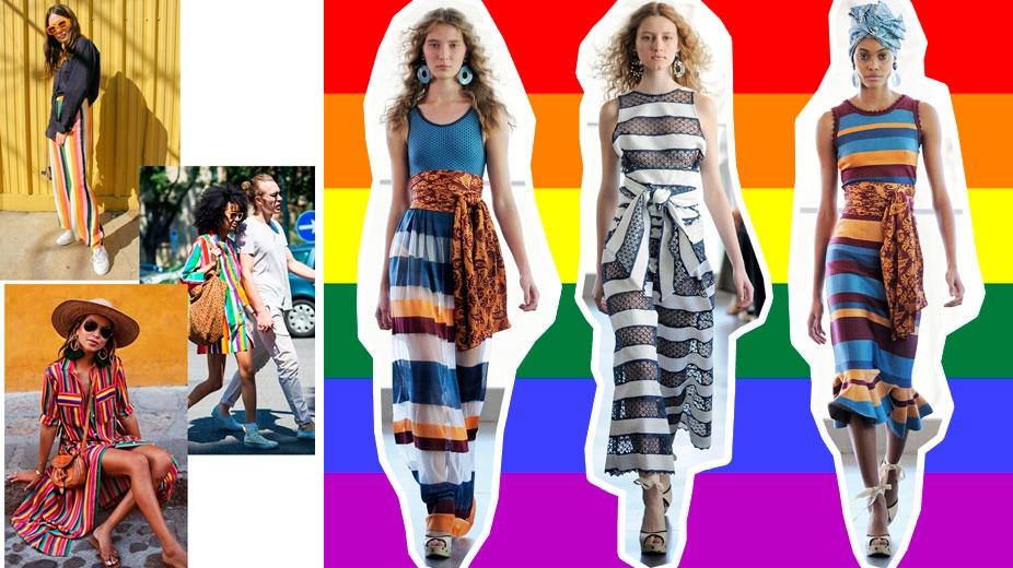 b493d577fbd3b Peças vibrantes e com listras multicoloridas serão o destaque da estação.  Inclusive as listras coloridas vem sendo chamadas lá fora de rainbow ...