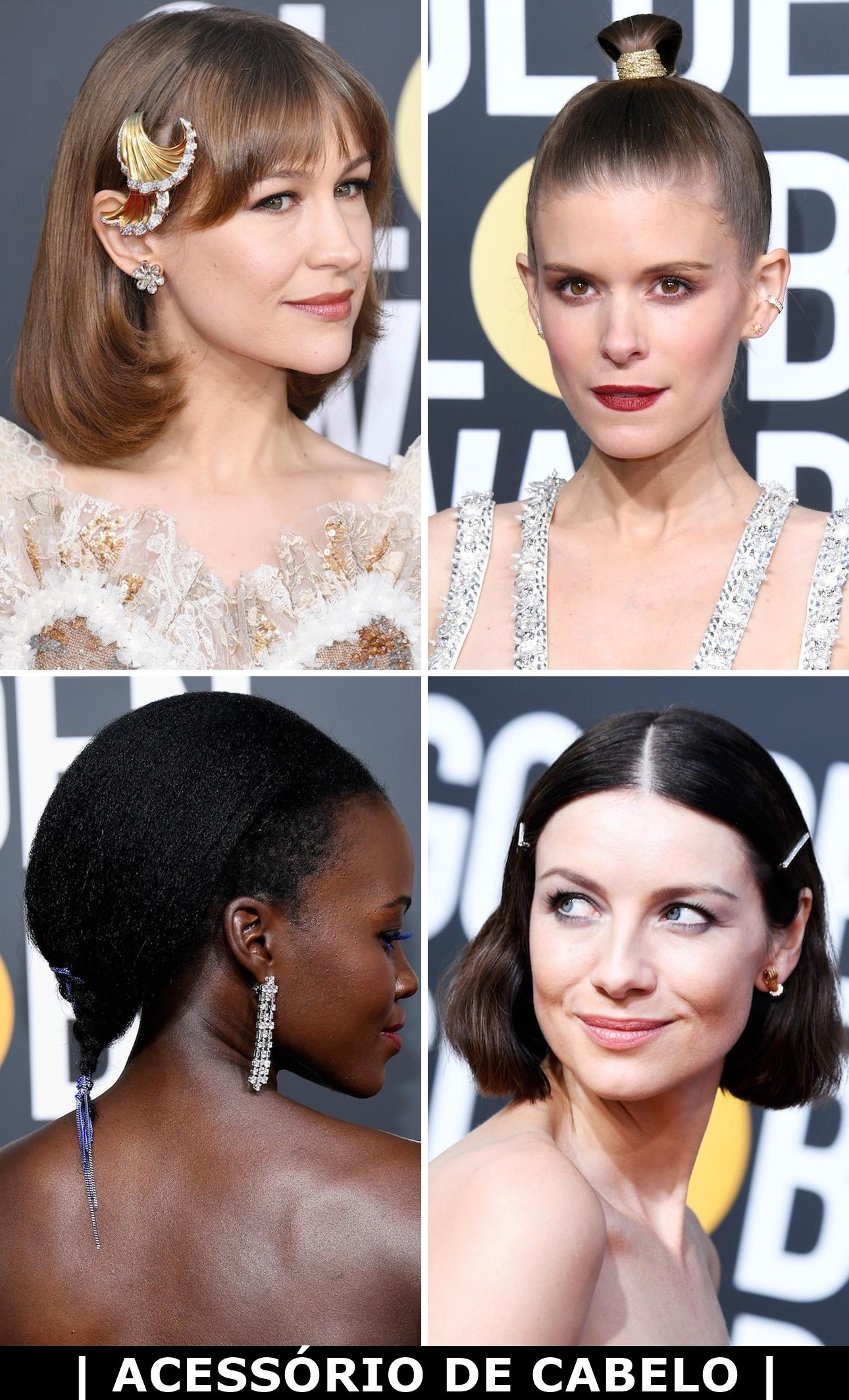 ... além de firmar os laços de fita como visual favorito das celebs – de  Kate Middleton a Emma Stone. E também apareceram forte no Globo de Ouro. 10d5334e69